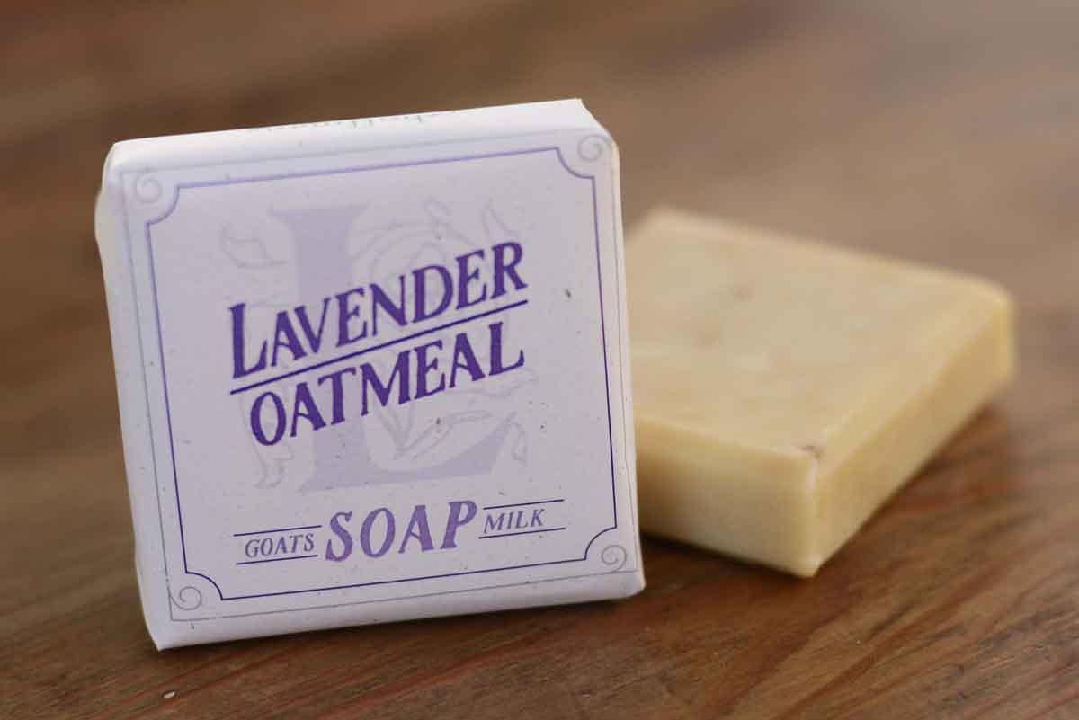 Lavender Oatmeal Goats Milk Soap